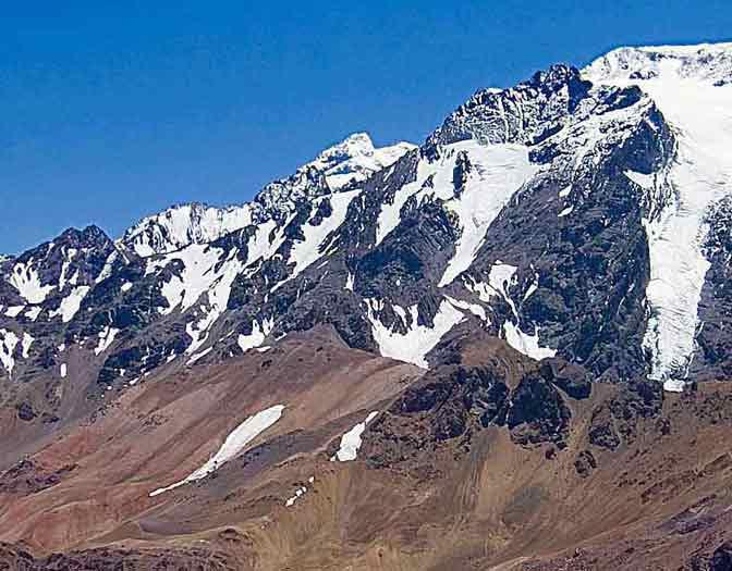 View of Aconcagua in Argentina