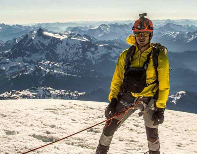Mountaineer Climbing