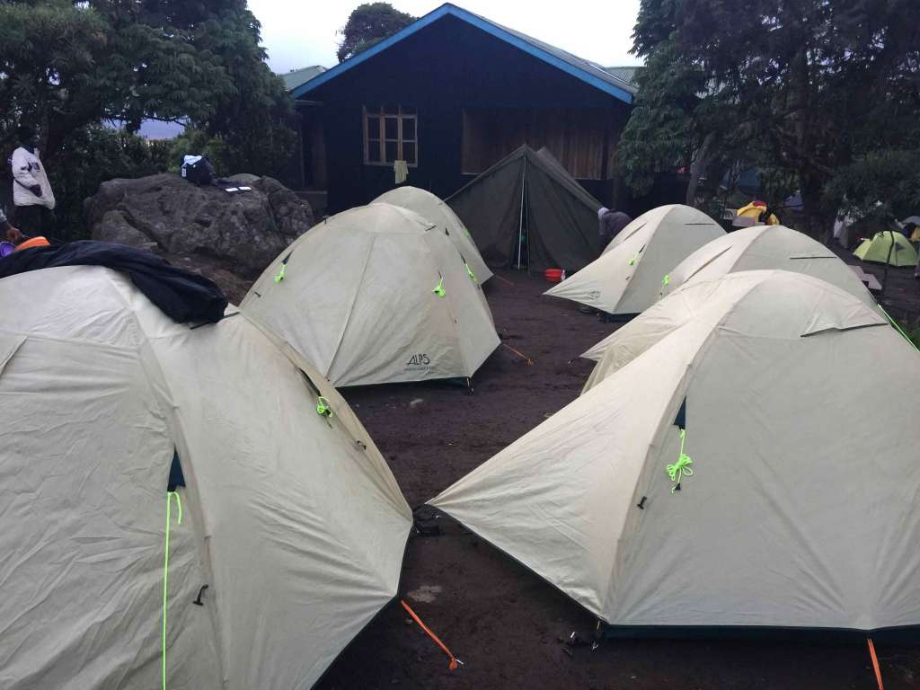 Camp site at Machame huts (Day 1)