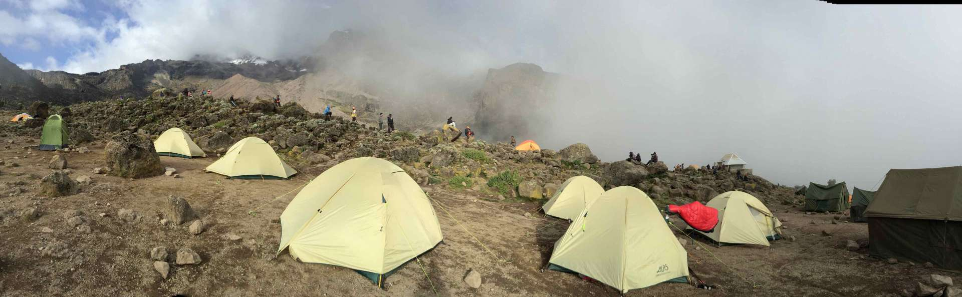 Barranco camp site, Machame route (Day 3)