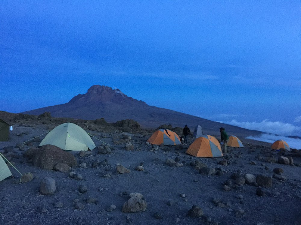 Kosovo camp site, Machame route (Day 5)