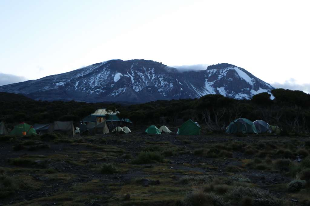 Camp location, Machame route (Day 2)