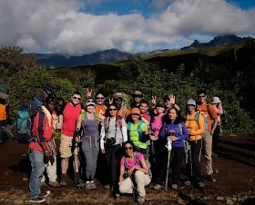 The wonderful gang and guides that made it all happen