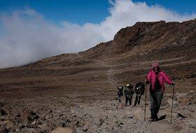 Pole pole - one step at a time! Alpine desert