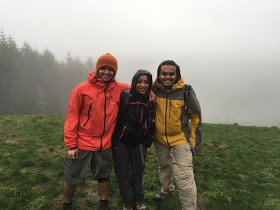 On our favorite training mountain (Tiger), completely drenched in rain