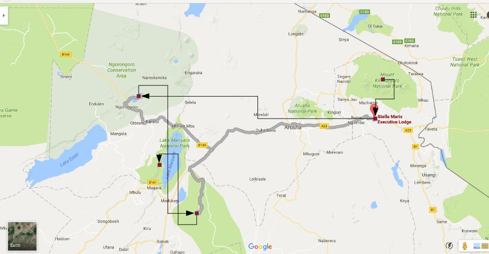 3-day-safari-map
